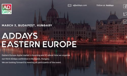 ADdays East Europe 3rd – March. Budapest