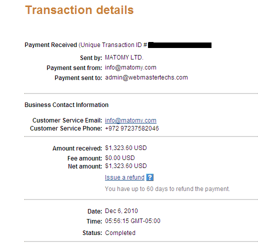 Matomy Media Payment Proof Review