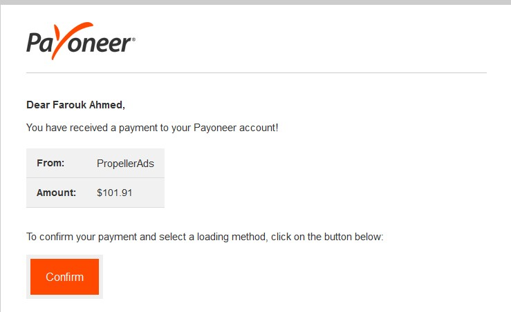 PropellerAds Payment Proof Review