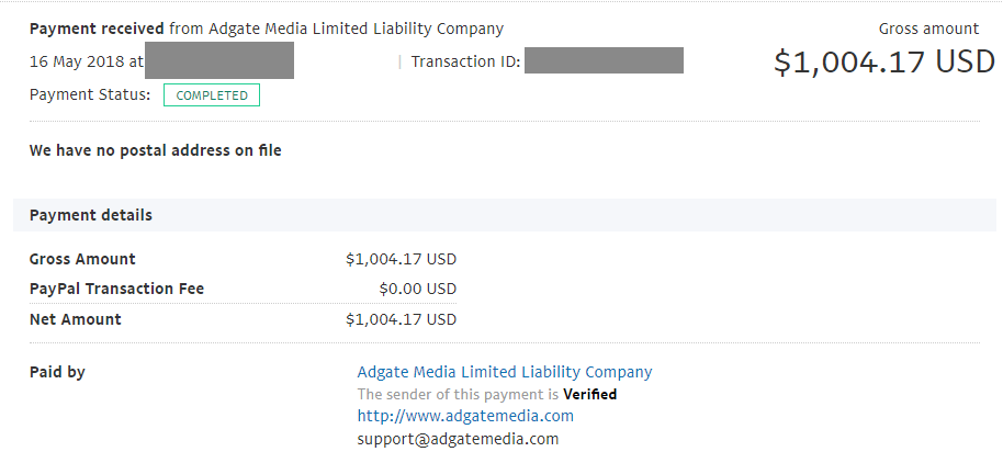 AdGateMedia Payment Proof Review